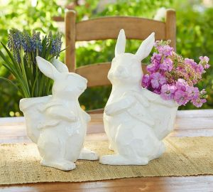Sculpted Ceramic Bunnies from Pottery Barn