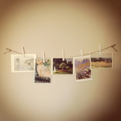 Cards on string