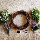 MB Wreath prep